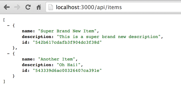 Items JSON